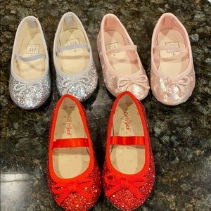 Gap cat and Jack ballet glitter flats 5T shoes